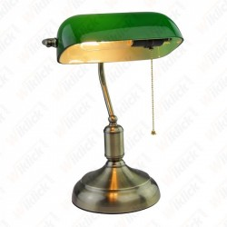 E27 Bakelite Table Lamp holder With Switch Green