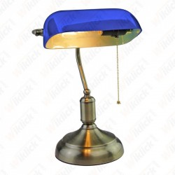 E27 Bakelite Table Lamp holder With Switch Blue