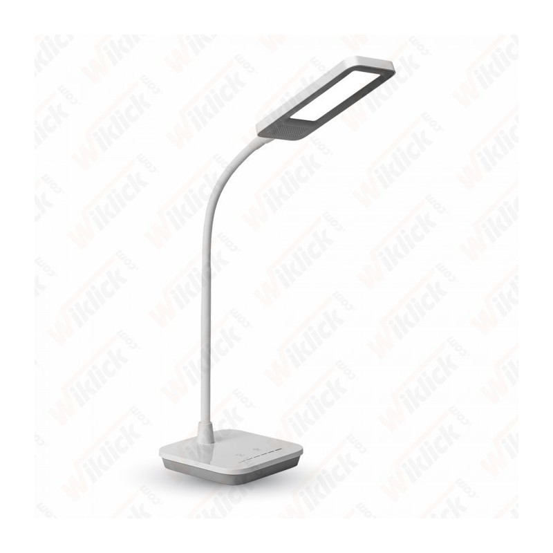 7W LED Table Lamp Dimmable 5000K Grey Body