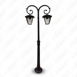 Pole Lamp 2XE27 1410mm IP44 Black - NEW