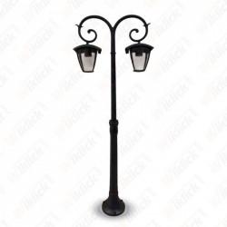 Pole Lamp 2XE27 1410mm IP44 Black - NEW
