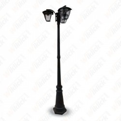 Pole Lamp 3XE27 1990mm IP44 Black - NEW