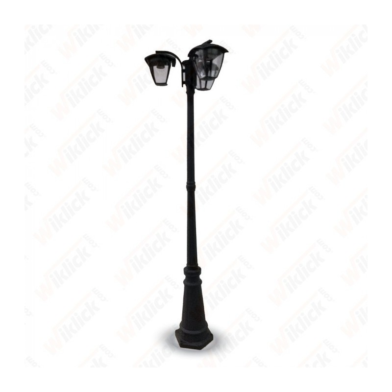 Pole Lamp 3XE27 1990mm IP44 Black - NEW