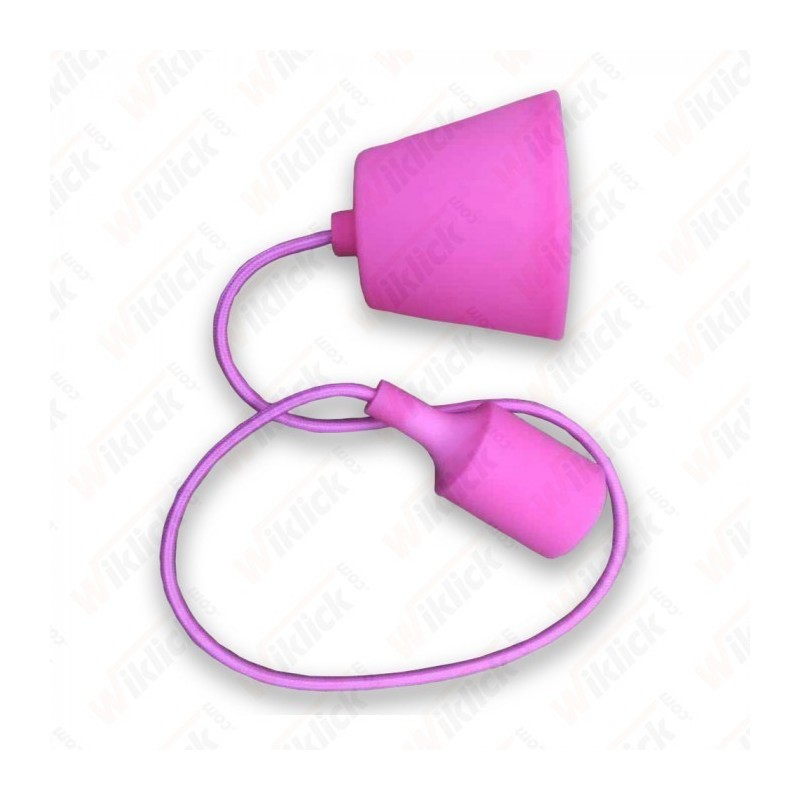 E27 Pendant Holder Pink Body