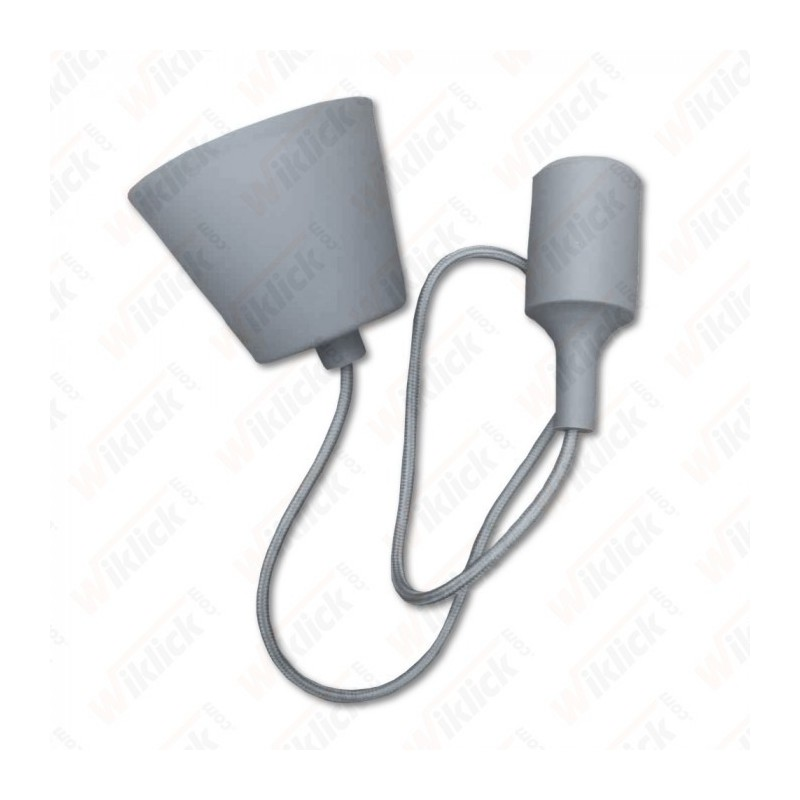 E27 Pendant Holder Grey Body
