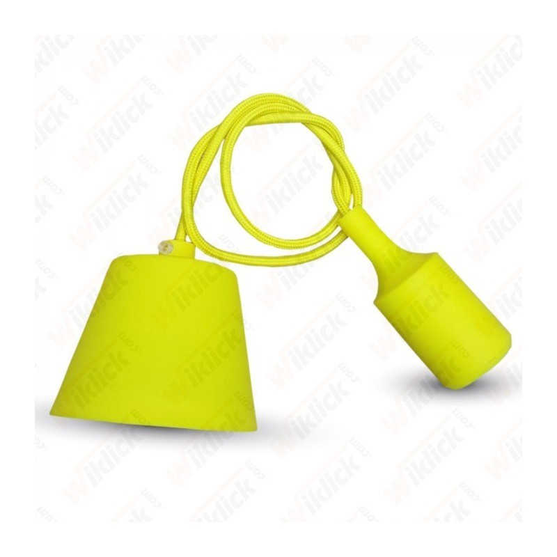 E27 Pendant Holder Yellow