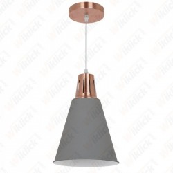 Modern Pendant Light Red Cooper+Sand Grey Diametro 220 - NEW