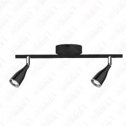 9W LED Wall Lamp 4000K Black