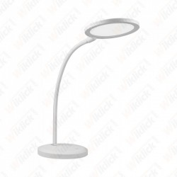 7W LED Desk Lamp With White...