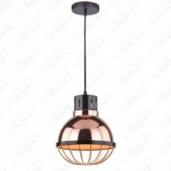 Rose Gold Pendant Light Holder Diametro 250 - NEW