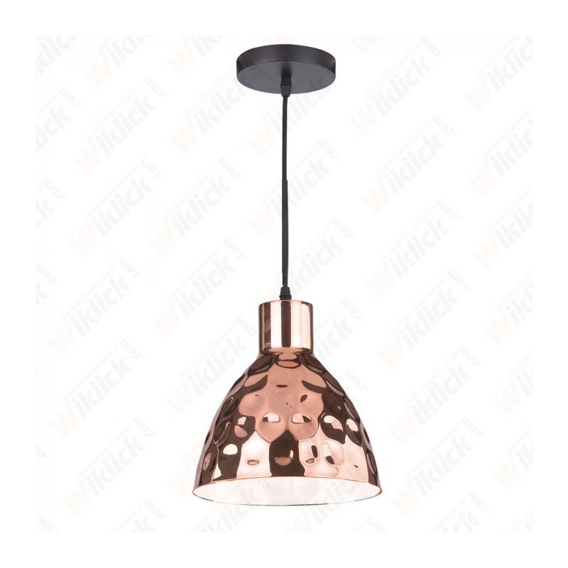 Rose Gold Pendant Light Holder Diametro 220 - NEW