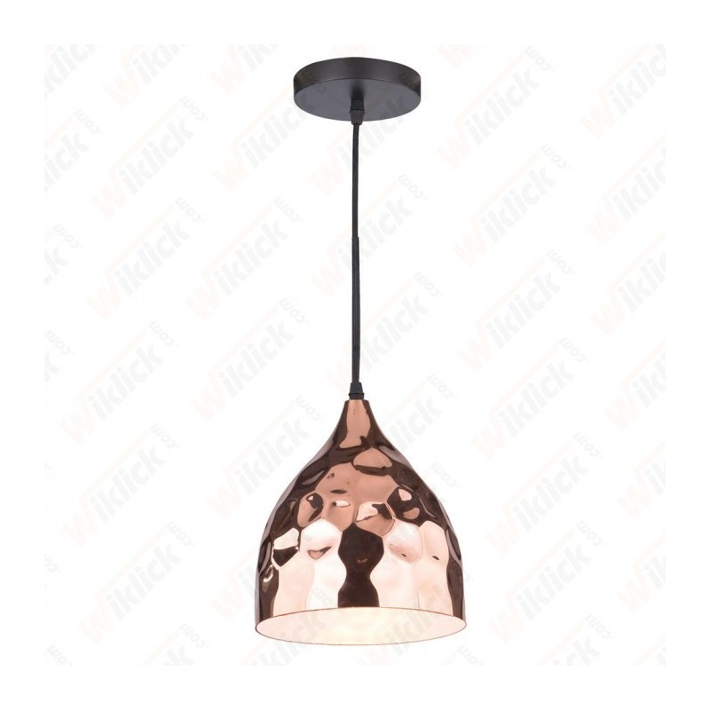 Rose Gold Pendant Light Holder Diametro 170 - NEW