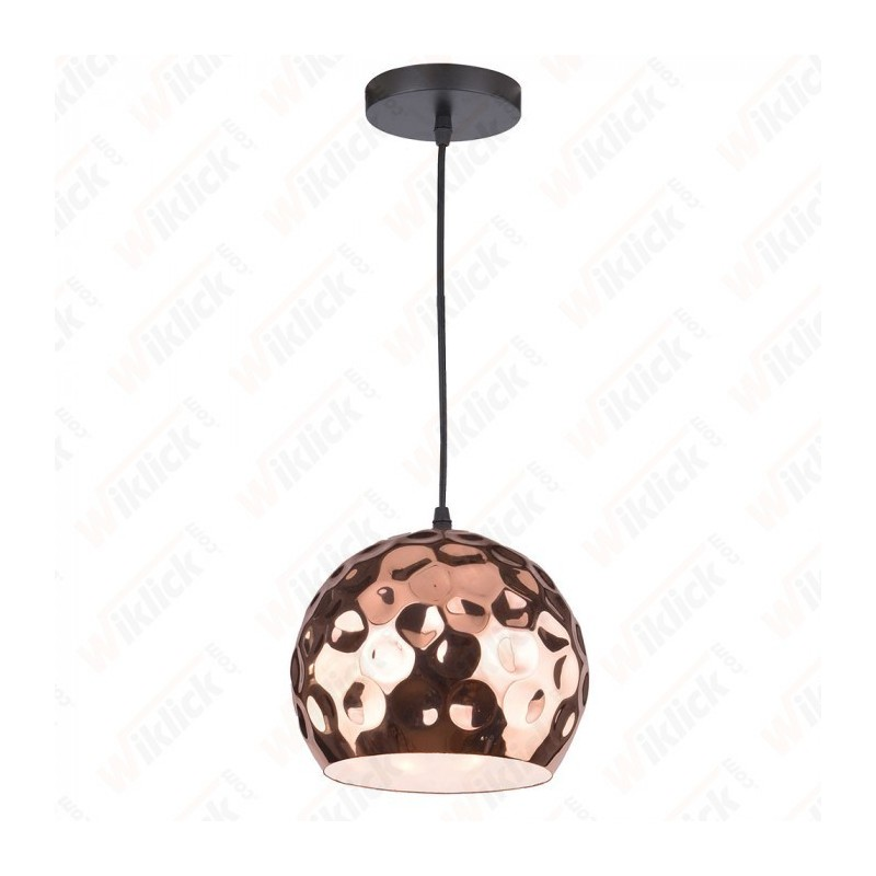 Rose Gold Pendant Light Holder Diametro 200 - NEW