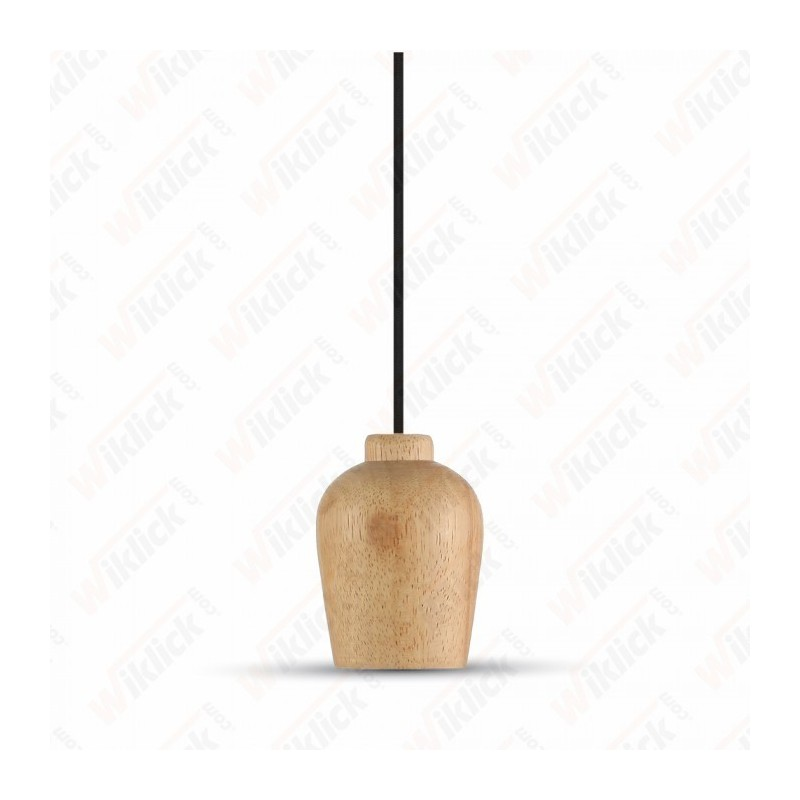 Wooden Pendant Light Black Wire