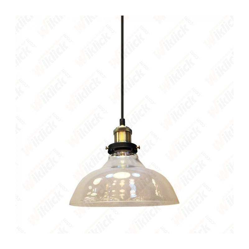 Glass Pendant Light Clear Glass Diametro 245 - NEW