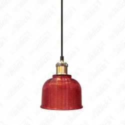 Glass Pendant Light Red Diametro 145 - NEW