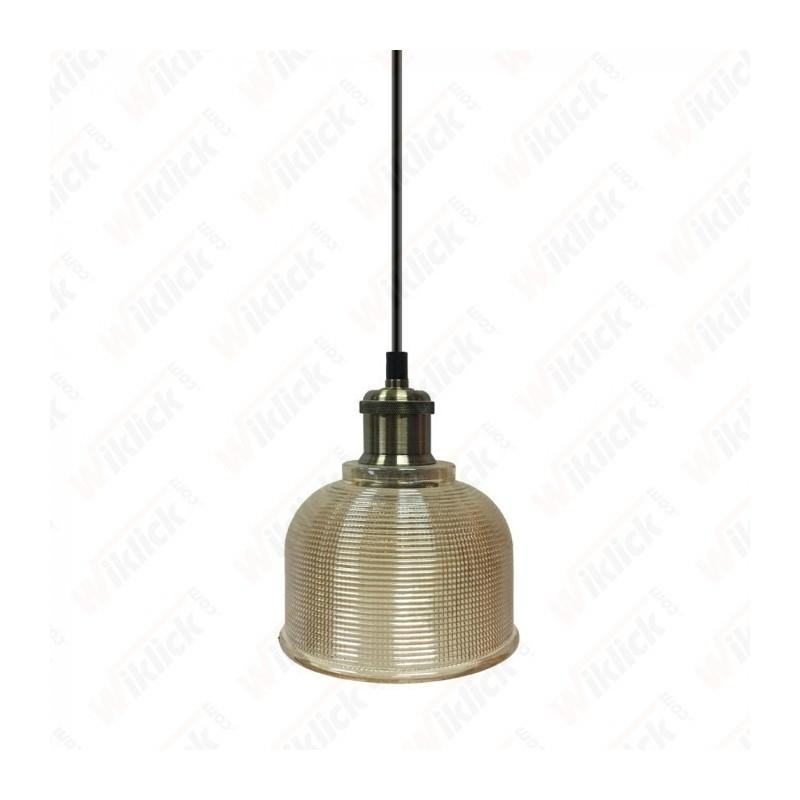 Glass Pendant Light Amber Glass Diametro 145 - NEW