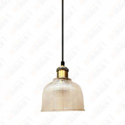Glass Pendant Light Transparent Diametro 145 - NEW