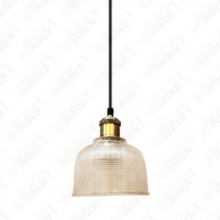 Glass Pendant Light Transparent Diametro 145 - NEW