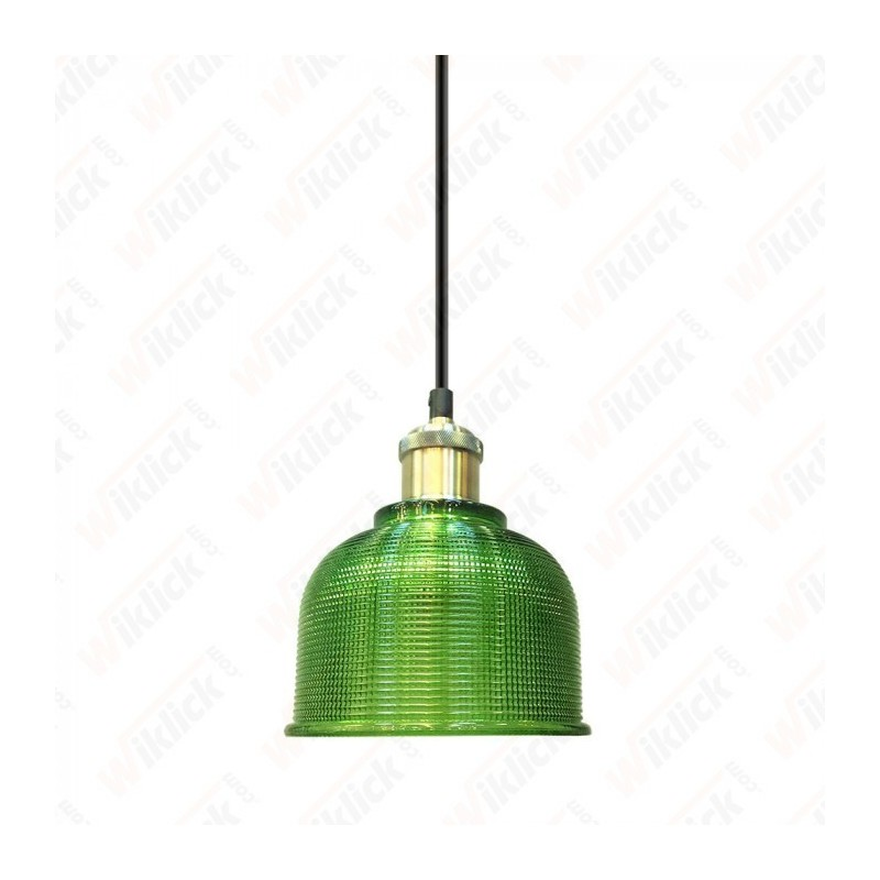 Glass Pendant Light Green Diametro 145 - NEW