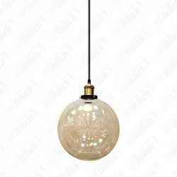 Vintage Glass Pendant Light Transparent Diametro 250 - NEW