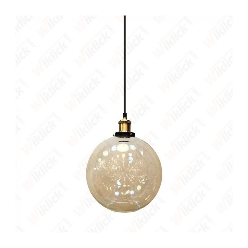 Vintage Glass Pendant Light Transparent Diametro 250 - NEW