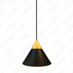 Aluminium Pendant Light  Black