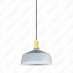 Modern Pendant Light Wooden Top Iron White Color ?350 - NEW
