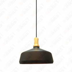 Modern Pendant Light Black Wooden Top  - NEW