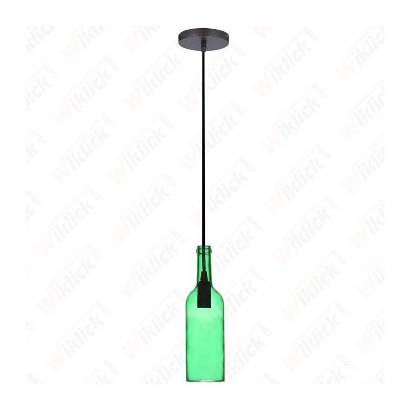 Bottle Pendant Light Green - NEW